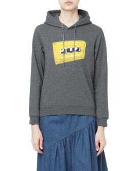 Cassette logo hoodie