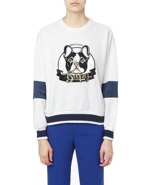 Pug graphic sweatshirt