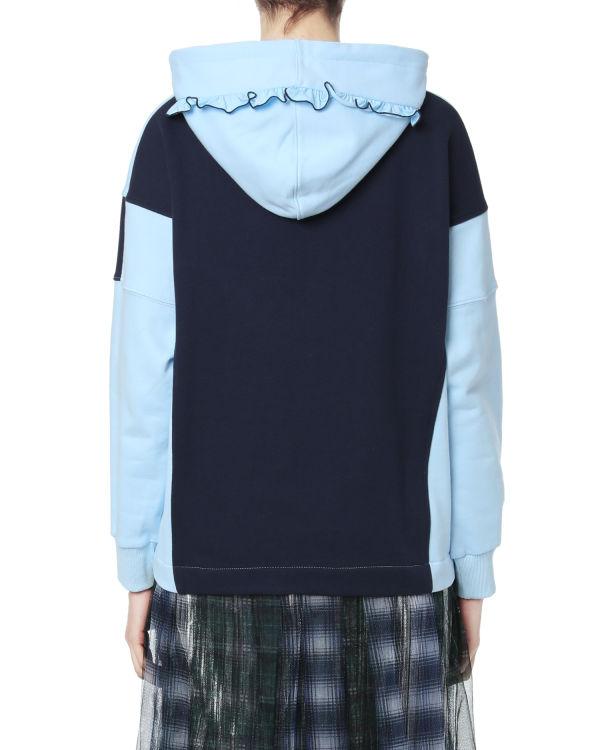 Contrast panelled hoodie