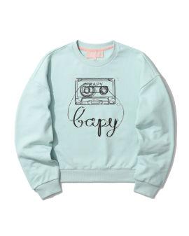 Embellished graphic sweatshirt