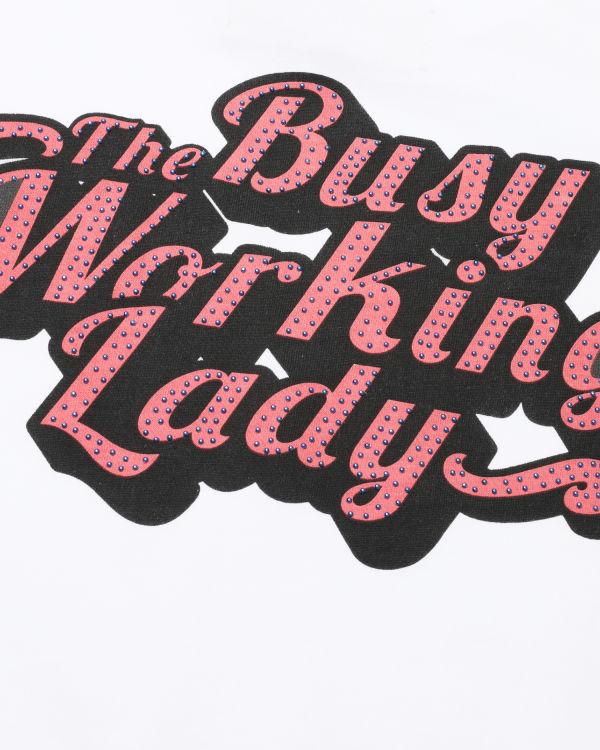 Studs embellished logo tee