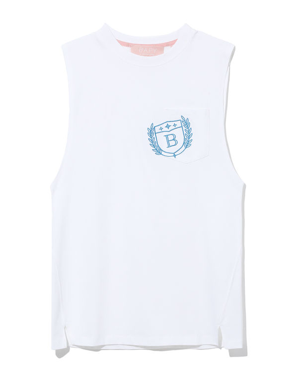Logo embroidered sleeveless tee