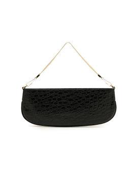 Beverly circular croco embossed leather bag