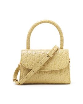 Mini flax circula crocodile bag