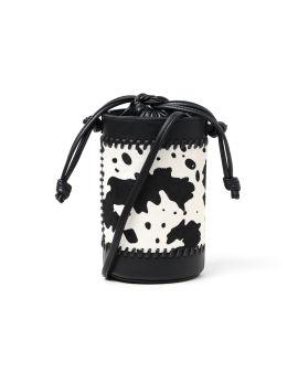 Patterned bucket bag