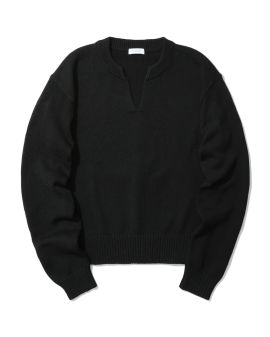 Tunisian neckline knit sweater