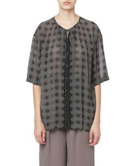 Pattern printed tunic top