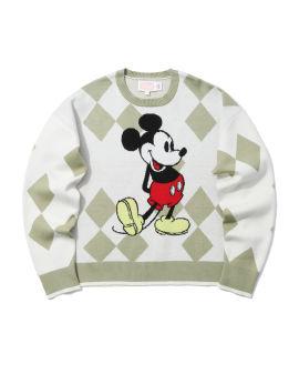 X Disney Mickey Mouse intarsia sweater