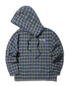 Cosy vibes checked hoodie