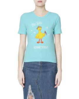 X Sesame Street Character print tee