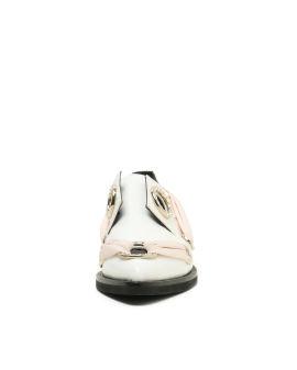 Zamak Circle embellished derby shoes