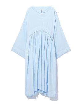 Pleated hooded dress