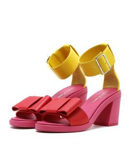 Colourblock strap pumps