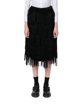 Tiered fringes skirt
