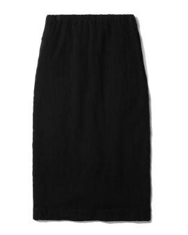 Elasticated midi skirt
