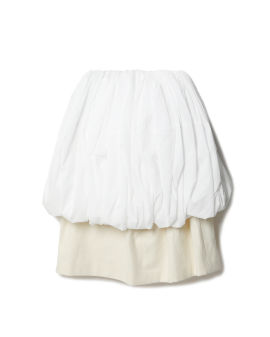 Bubble midi skirt