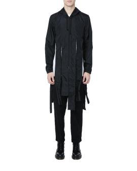 Shredded hooded coat
