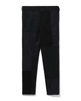 Contrast panel pants