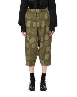 High waisted printed pants