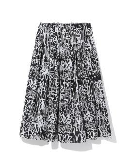 All-over logo skirt