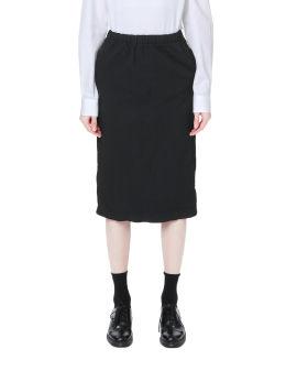 Twill pencil skirt