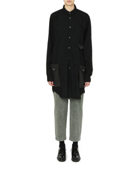 Long panelled shirt