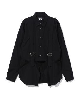 Harness strap layered shirt