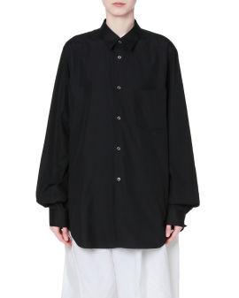 Concave back  button-up shirt