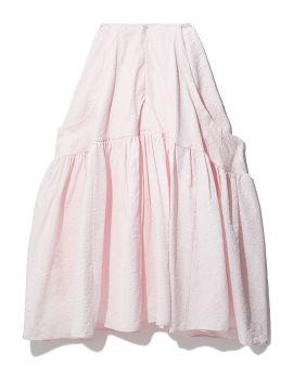 Oversized textured skirt