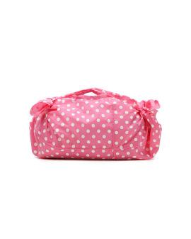 Polka dot knotted hand bag