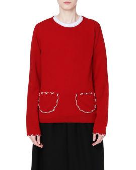 Topstitch pocket sweater