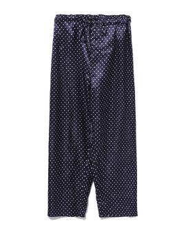 Cropped polka-dot pants