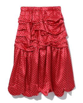 Polka dots ruffle skirt