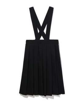 Suspender strap pleated skirt