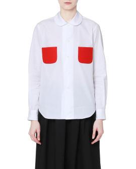 Contrasting pockets shirt