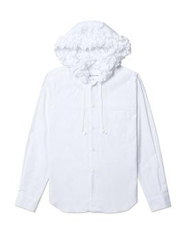 Ruffle hood shirt