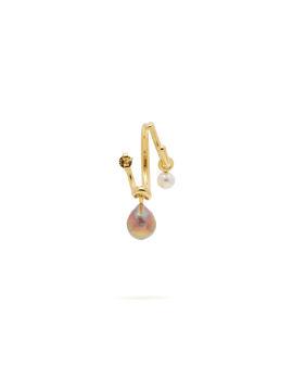 Triplet pearl single earring