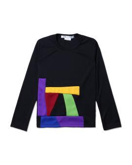 Colour block pattern tee