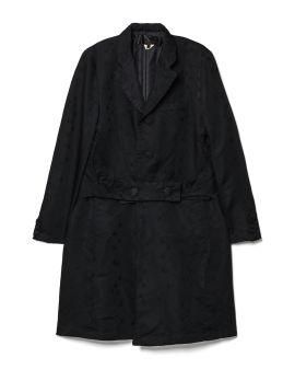 Buttoned waist detail coat