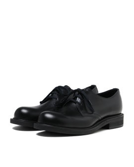 Lace-up derby flats