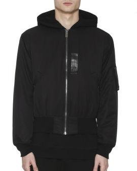 Graphic logo print bomber jacket