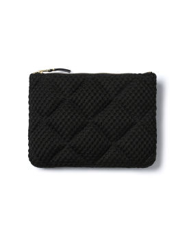 Quilted coin pouch