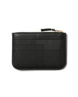 Panelled leather pouch