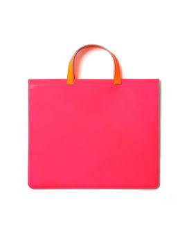 Contrast top handle bag