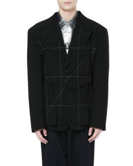 Pinstripe grid blazer