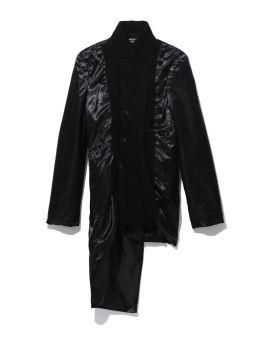 Quilted longline coat