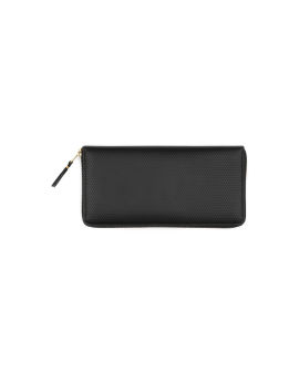 Textured leather continental wallet