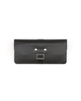 Leather continental flap wallet