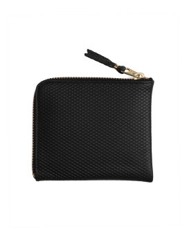 Textured leather coin pouch