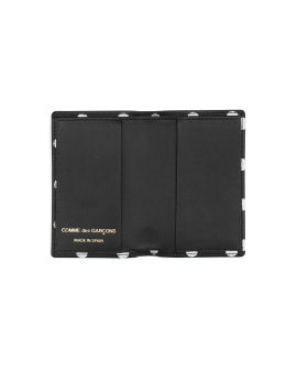 Polka dot leather card holder